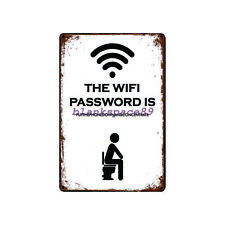 Metal Tin Sign funny wifi sign in toilet Bar Pub Home Vintage Retro Poster