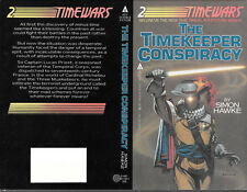 Simon Hawke The Timekeeper Conspiracy autographed book cover