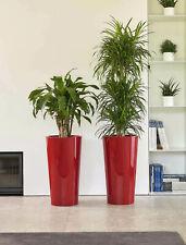 2 Stück hohe Blumentöpfe mit Einsatz in Rot Euro3Plast Tuit Übertopf Vasen Topf