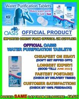 Oasis 17mg water purification tablets treatment cheapest hiking camping prepper