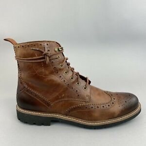 Clarks Batcombe Brown Leather Wingtip Brogues Chukka Desert Boots US12 UK11 G