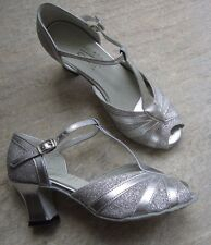 "Ladies UK Size 3 Silver Ballroom Shoes with 2+"" heel (see pic) *NEW* Roch Valley"