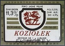 Poland Brewery Lublin Koziołek Beer Label Bieretikett Etiqueta Cerveza lu23.1