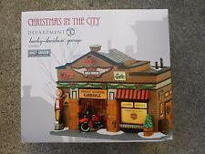 Dept 56 Christmas In The City Harley-Davidson Garage *Excellent Display*