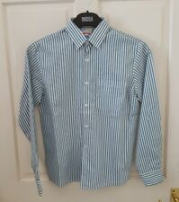 Children's World White and Green Stripe Shirt Age 11-12 Yrs Excellent Condition