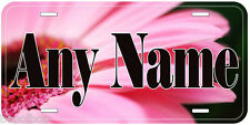 Pink Flowers Aluminum Any Name Personalized Novelty Car License Plate