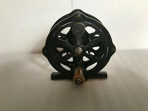 Vintage Hendryx Black Painted Brass Fly Reel - 60 Yard Size
