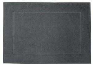 2 X Bath Mats Terry Towelling 100% Egyptian Cotton, SIZE 50 X 70 CM, DARK GREY