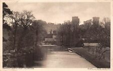 WARWICK LEICESTER UK CASTLE FROM THE BRIDGE~ J J WARD PHOTO POSTCARD 1920s