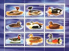 DUCK BIRDS ON WATER REPUBLIQUE DEMOCRATIQUE DU CONGO 2002 MNH STAMP SHEETLET