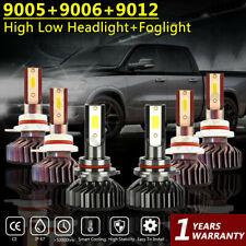 For Ram 1500 2500 3500 w/Projector 2013-2015 LED Headlight+ Fog Light Bulb F2 6X