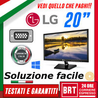 "PC MONITOR SCHERMO LED 20"" PRO 19,5 POLLICI LG 16:9 VGA DVI DISPLAY BUONO!! (LCD"