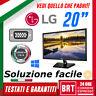 """PC MONITOR SCHERMO LCD LED 19,5"""" POLLICI LG M37 16:9 VGA DVI DISPLAY BUONO 19 20"""