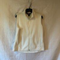 Woolrich Womens Vest White Zip Up Pockets Mock Neck Jacket M New