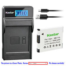 Kastar Battery LCD Charger for Canon NB-11L CB-2LF & Canon ELPH 180 ELPH 190 IS