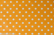 1.4m/140cm Rond Orange Artisanale Toile Cirée Essuyer Nappe Vinyle de Table