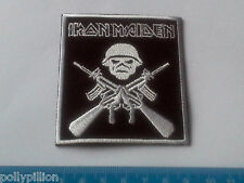 PUNK ROCK HEAVY METAL MUSIC SEW ON / IRON ON PATCH:- IRON MAIDEN (b) RIFLES