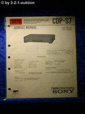 Sony Service Manual CDP S7 CD Player (#2276)