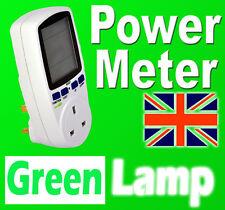 New Power Meter Energy Monitor  Esocket Plug-in KWH Watt Electricity Meter UK