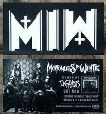 MOTIONLESS IN WHITE Ltd Ed RARE New Sticker +FREE Rock Stickers! Graveyard Shift