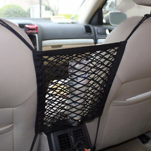 Car Seat Mesh Storage Luggage Elasticity Bag Hooks Hanging Organizer Accessories