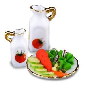 DOLLHOUSE Vegetable Salad Set 1.816/5 Reutter Veggie Pattern Miniature 2018