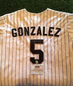 CARLOS GONZALEZ CARGO COLORADO ROCKIES SIGNED Jersey Mounted Memories
