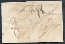 BEGELEIDBRIEF AMSTERDAM - LILLE 13.10.1687 MET PORT 18 (DÉC). GEBREKEN. Zk774