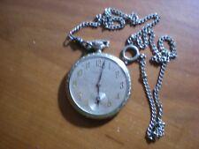 Old~Pocket Watch S.D. BURRITT WATCH CO~15 Jewel~Swiss~Silver Tone Serviced