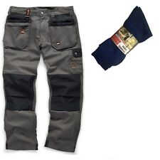 Scruffs WORKER PLUS Work Trousers Graphite Grey & 3 Pairs of Boot Socks
