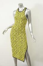 RAG & BONE Womens Yellow Cotton Blend VIOLA Knit Maxi Dress XS NEW $525