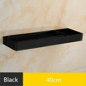 Stainless Steel Shower Corner Shelf Square Bathroom Shelf Nail Free Storage Rack