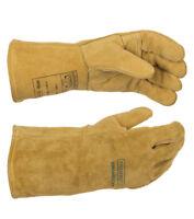 WELDAS MIG/MAG Welding Gloves, Premium Quality Split Leather, Size: S L XL XXL