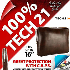 "Tech 21 Brown Laptop Bag Cover Sleeve Case for 15.4"" 15.6"" 16"" HP Acer Dell Sony"