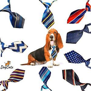 Dog Ties, Collar Neck Tie, Bowties, Cat Puppy, Girl Boy Small Medium S M, Blues