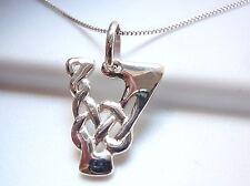 "Celtic Style Letter ""V"" Pendant 925 Sterling Silver Corona Sun Jewelry v"