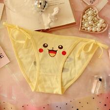 Pikachu Women's Tie Version Panties Briefs Girl's Cotton Underwear Daily Wear