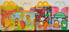 McDONALD'S HAPPY MEAL BOX Set of 2 - KISSYFUR 1987 & GARFIELD 1989 Unused