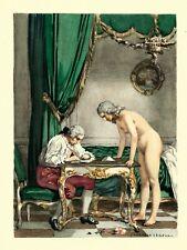 Gravure en Couleur Auguste Leroux Série CASANOVA