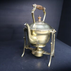 1870-1890s. William Soutter & Son Brass Spirit Kettle & Stand