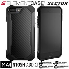 Element Case SECTOR Case For iPhone 7 PLUS BLACK | MIL-SPEC | TPU Carbon Fibre