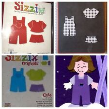 Sizzix Die Cutting Paper Doll Overalls Country  Dressups DieCut Outfit Body Bigz