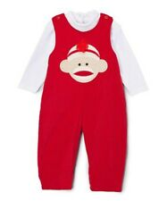 NWT ZUBELS Boy's size 24 Months Sock Monkey ADORABLE Corduroy Red OUTFIT 24M