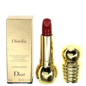 Dior Red Lipstick Diorific Longwearing Lipstick 014 Dolce Vita 3.5g Brand New