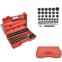 vidaXL Druckstück 52-tlg Treibsatz Werkzeug Set Montagescheiben Lager Schalen