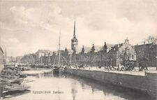 KOBENHAVN DENMARK DANEMARK BORSEN SHOWING DOCKS AND SHIPS POSTCARD 1907