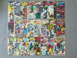 24 MARVEL COMICS LOT! DAREDEVIL! PUNISHER! CAGE! MARVEL TEAM-UP ANNUAL!