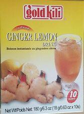 GOLD KILI GINGER LEMON DRINK TEA ALL NATURAL INSTANT BEVERAGE