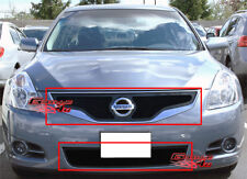Fits 2010-2012 Nissan Altima 2Dr Black Stainless Mesh Grille Grill Combo Insert
