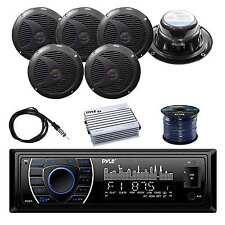 Pyle BT Receiver w/Pyle SPKR, Pyle 4-Chan Amplifier, Enrock Antenna & SPKR Wire